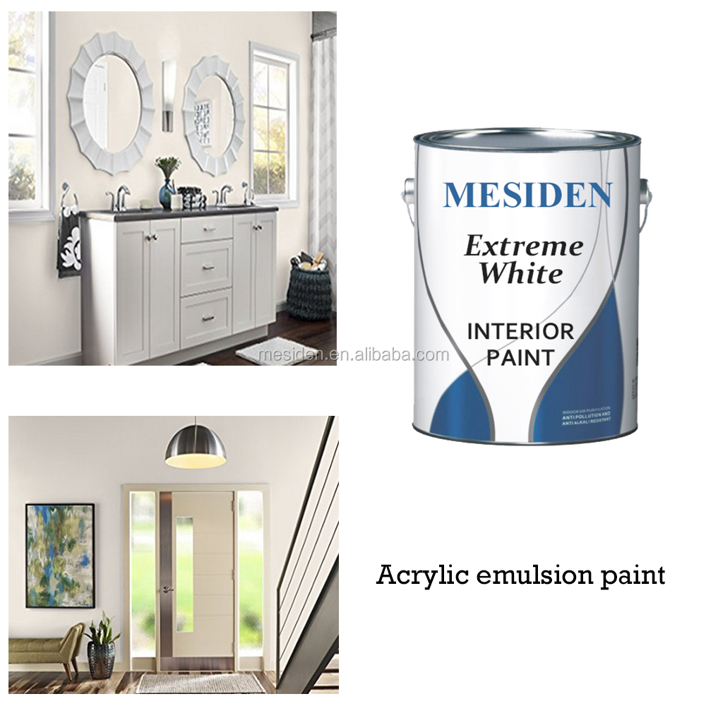 Smooth and Creamy Emulsion Paint for Use on Walls/Ceilings