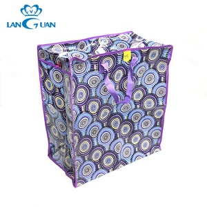 custom promotional geometric shopping pp woven bag