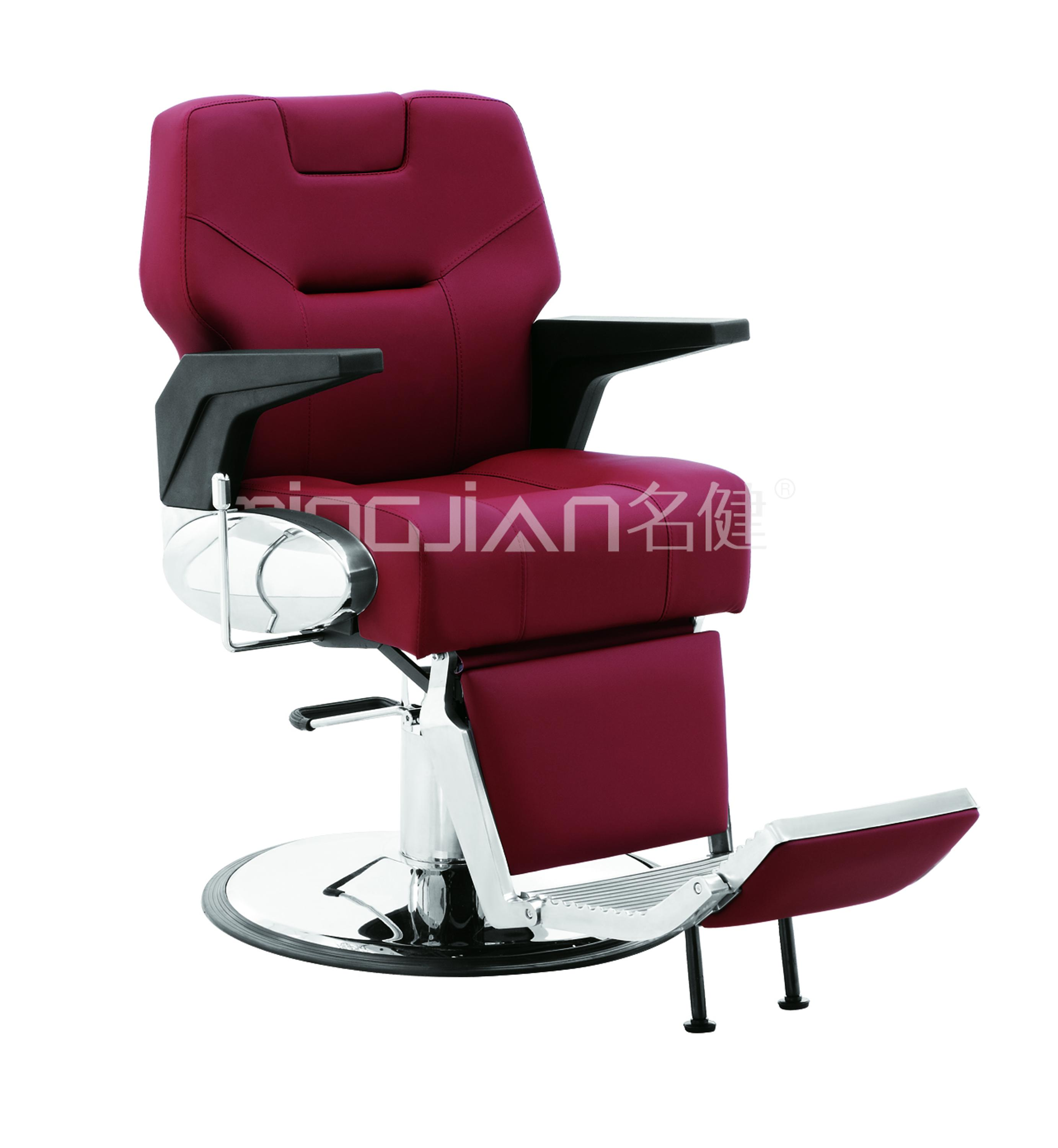 MJ Wholesale Red Barber Chair Beauty Reclining Salon Chair