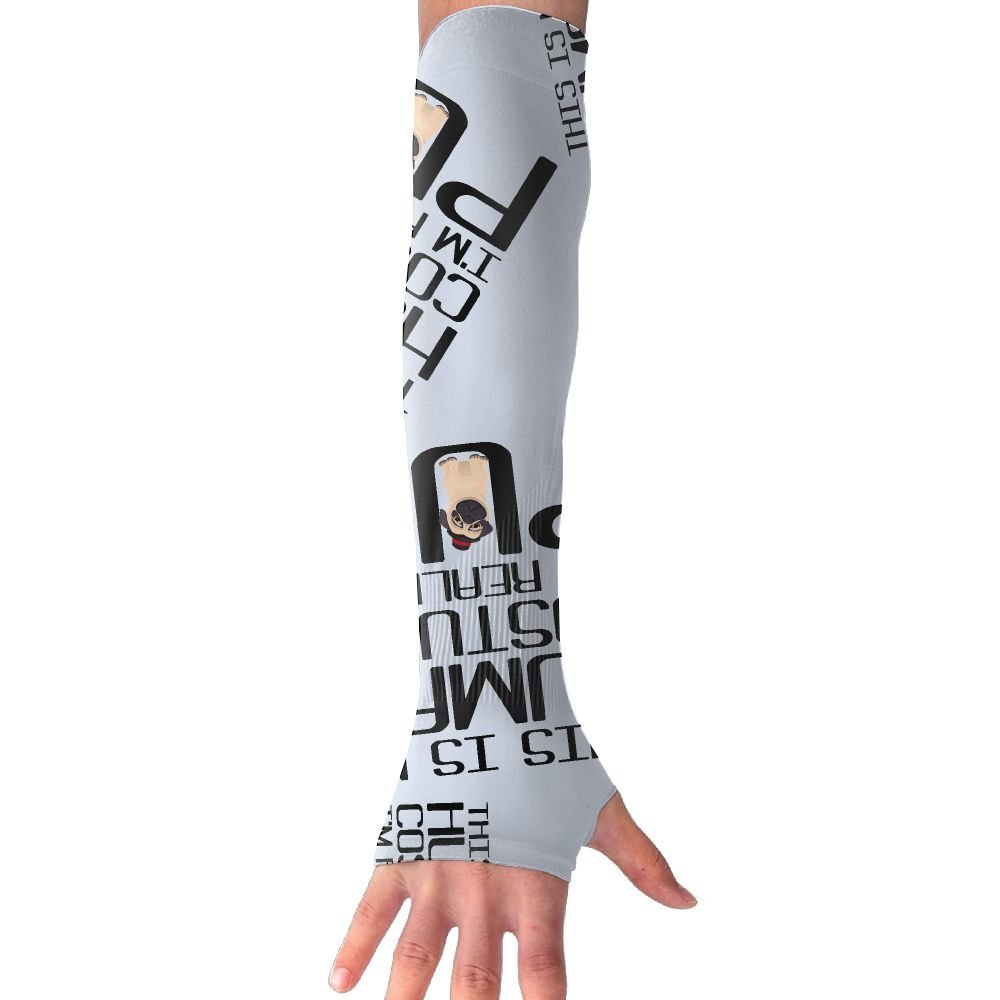 81647f1915 Get Quotations · This Is My Human Costume I'm Really A Pug Men Women Warmer Arm  Sleeve