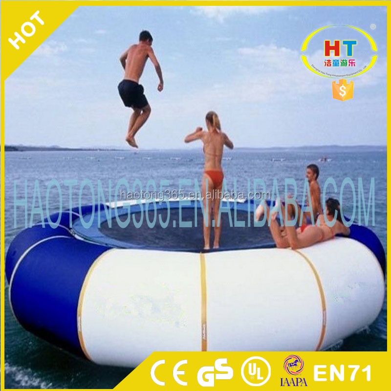 NEW Floating water park toy Swimming Pool Inflatable water trampoline for kid and adult