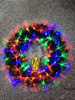 factory supply LED Lighted fiber optic wreaths charming christmas tree wreath