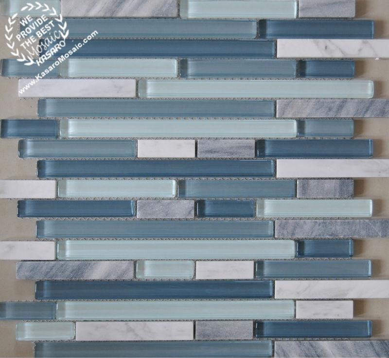 Nuova tendenza strisce mosaico striscia di vetro mosaico - Piastrelle di vetro ...