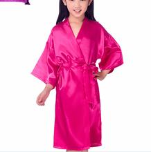 5e0ecf70bbe3 Commercio all'ingrosso bambini ragazza abiti di seta di Seta Satin Abiti Da  Sposa Damigella