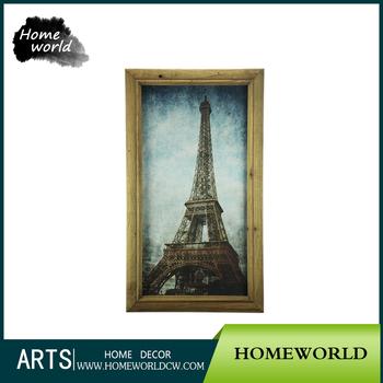 excellent souvenir painting eiffel tower framed art work