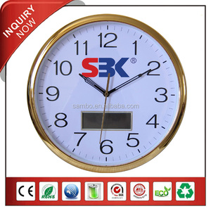 Golden Plating Custom Lcd Clock Display