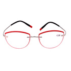 2019 Fashionable Cateye Shape Metal Reading Glasses Red