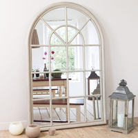 large arch decorative mirror window frame