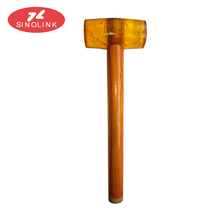 Rubber Mallet Hammer with wooden handle for Garden, Patio, Chisel