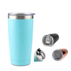 Powder Coated Stainless Steel Vacuum Flask & Coffee Thermos & Travel Tumbler