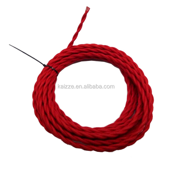 Magnificent 25 Ft Vintage Lamp Cord Antique Cotton Cloth Covered Twisted Wiring Digital Resources Remcakbiperorg