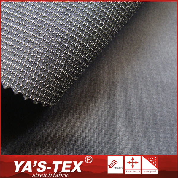 China Textile Ribstop Polyester Stretch Knitting Wholesale Softshell Fabric For Winter Jacket