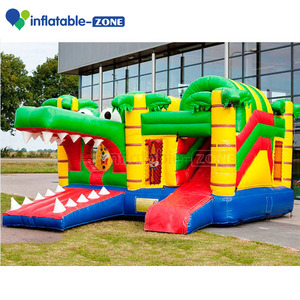 giant commercial jungle inflatable castle/crocodile inflatable jumper/animal inflatable bouncers