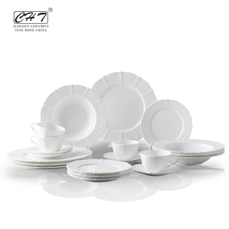 High quality bone china 20pcs dinner set crockery restaurant for sale