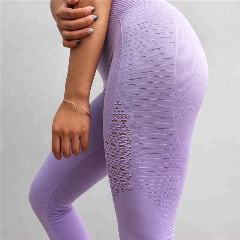 Frauen hoch taillierte Fitness Yoga Sport Leggings nahtlose Gymnastik Leggings