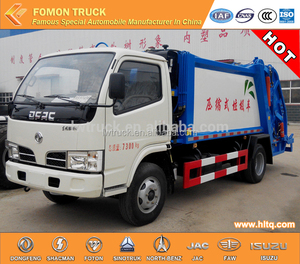 Factory outlet Dongfeng 4x2 4m3 compactor garbage truck/trash bin truck/garbage compactor