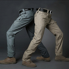 good quality T/C outdoor three proofings adult waterproof khaki hiking cargo pants professional manufacturer