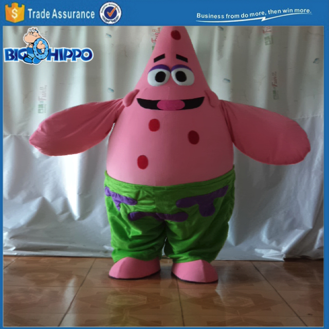 Favourite television show character starfish patrick high quality custom mascot costume