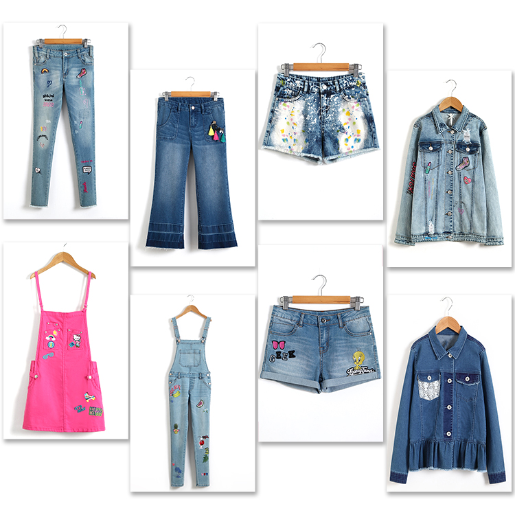 Fashion spring casual damaged denim jacket for teen girls