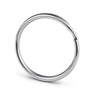 25mm Stainless Steel Split Key Rings Round Edge Style Wholesale Keyrings for DIY key chain