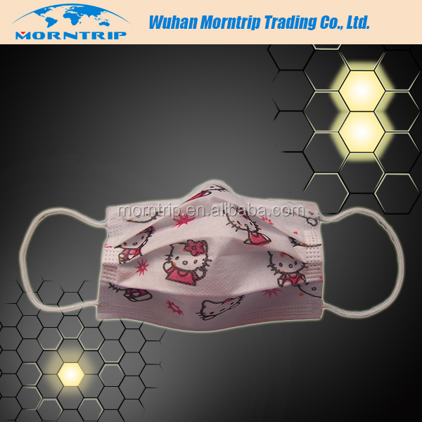 Free Sample Cartoon Printed Medical Funny Half Face Mask with Design