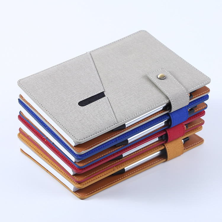 High Quality Customized PU leather Diary with Pen and Pocket
