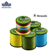 Handing 8 strands Multifilament pe braided fishing line