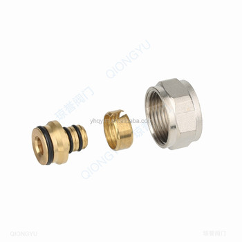 Multilayer brass hydraulic hose fitting compression screw adaptor Wholesale Brass compression pex pipe fittings