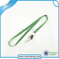 Professional personalized custom silk screen printing lanyard with bulldog clips for gift