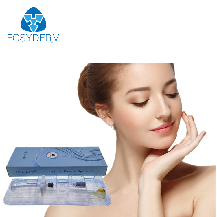 Alibaba.com / Fosyderm Cross Linked Hyaluronic Acid Syringe Beautiful Injectable Dermal Fillers 2ml Deep With Lido