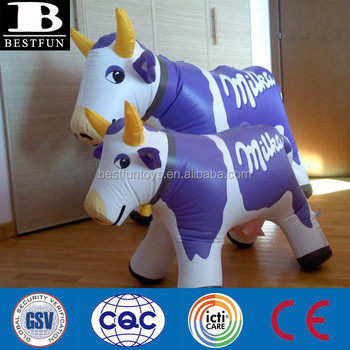 Pvc Inflatable Cow Milka Plastic Small Blow Up Toys Custom ...