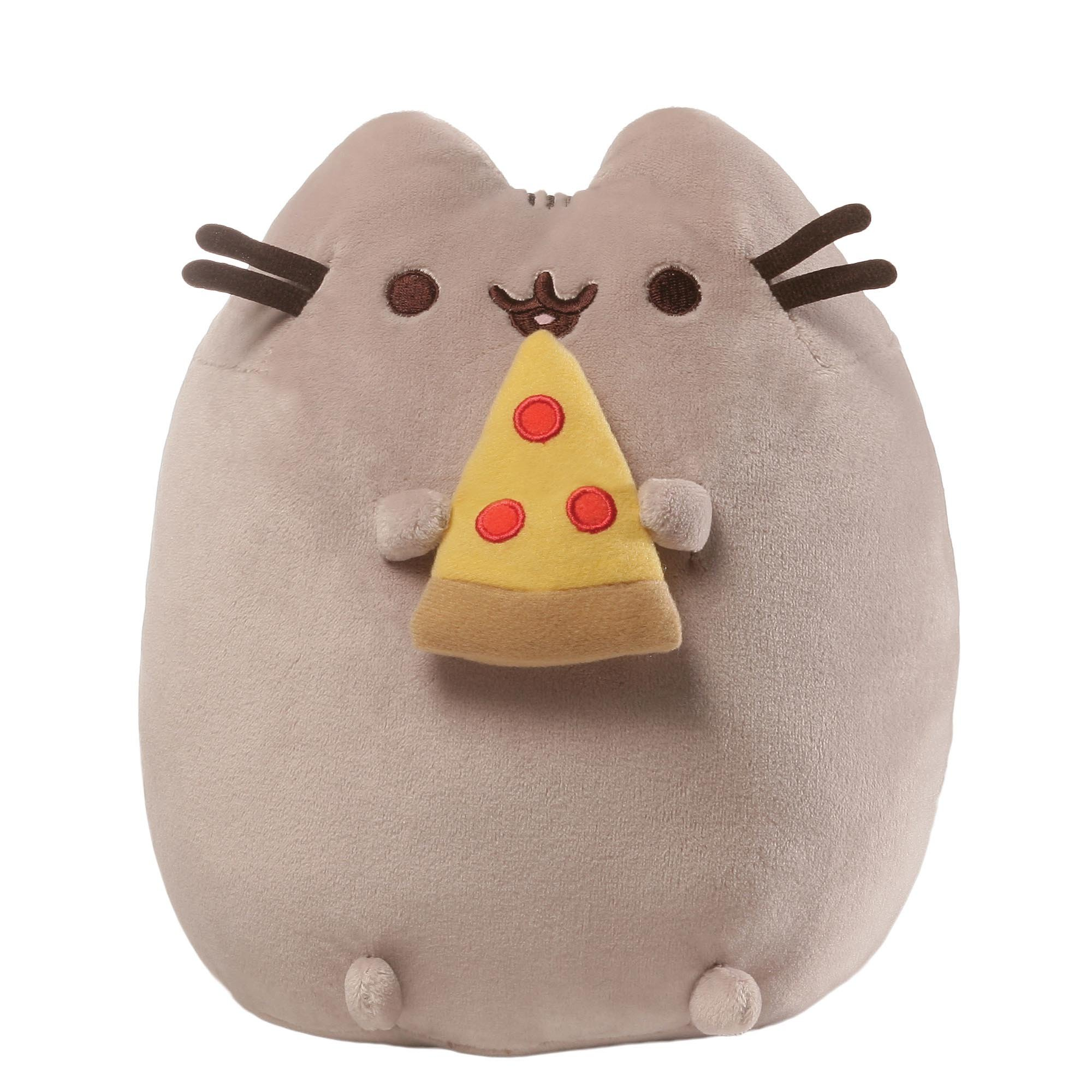 GUND Pusheen Snackable Pizza Stuffed Animal Cat Plush, 9.5""