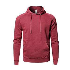Men's Causal Solid Color Hoodie Soft French Terry Fabric Long Sleeve Pullover Hoodie Burgundy Pullover Hoodie Men