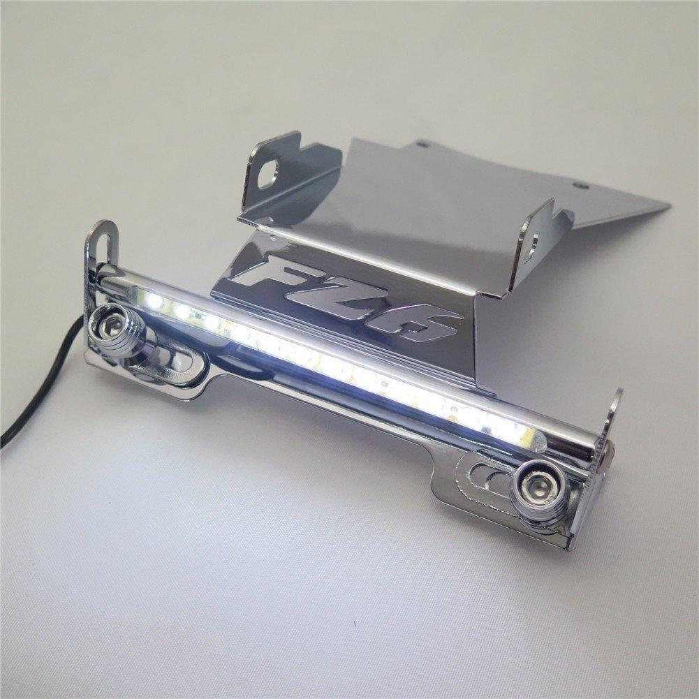 "Fender Eliminator Tidy Tail w/ LED Light ""FZ6"" Logo For 2006 2007 2008 Yamaha Fz6 Fazer 2007-2008 Chrome"