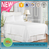 Wholesale 100% Pure Cotton Plain Full Size Hotel Flat Bed Sheets White Bleached