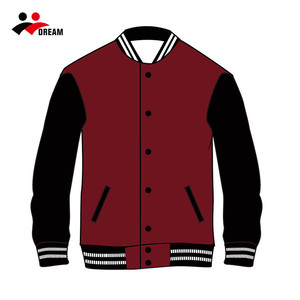 Sublimation printing wholesale blank baseball jacket with custom service