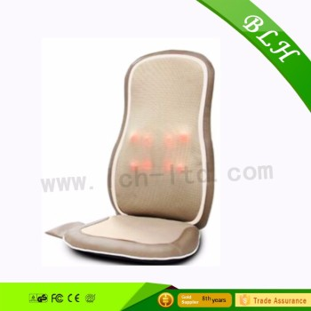 2017 BLH Infrared Vibrating Kneading Rolling Shiatsu Massage Cushion For Car Seat