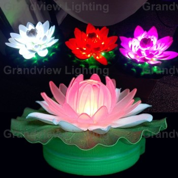 Waterproof Lotus Led Flower Light For Pool Decoration Up Pot