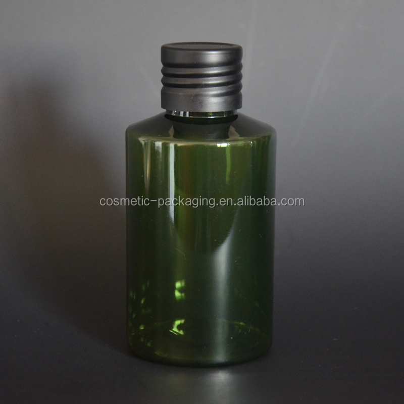 100ml empty Plastic <strong>Bottles</strong> PET <strong>bottle</strong> with Lined Aluminum Silver Lid