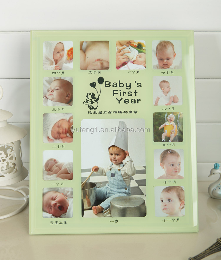Wholesale Glass Baby 12 Month Photo Frame/ Baby First Year Photo ...