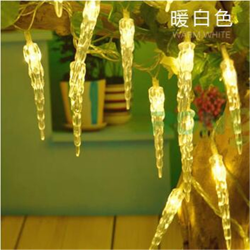 8m 50 Led Fairy Lights Battery Operated Icicle Led