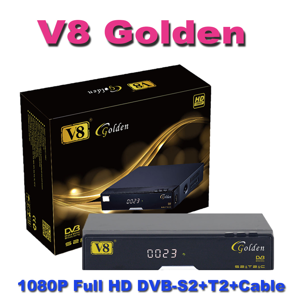 V8 super receiver digital set top box V8 golden HD satellite receiver for Europe market