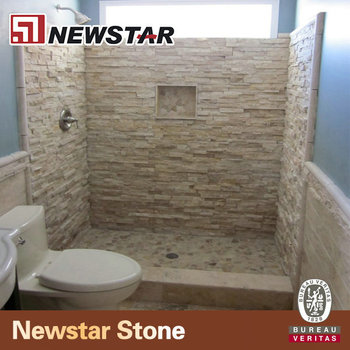Natural Slate Stone Shower Wall Marble