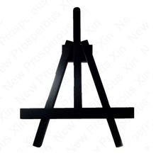 Chalkboard Display Metal Easel, Black Small Aluminum Painting Easel