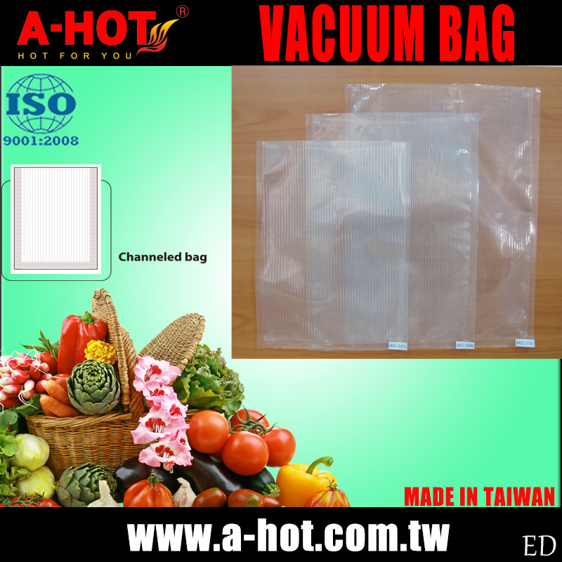 Kitchen Food Vegetable Fruit Saver Vacuum Channeled Sealer Bag