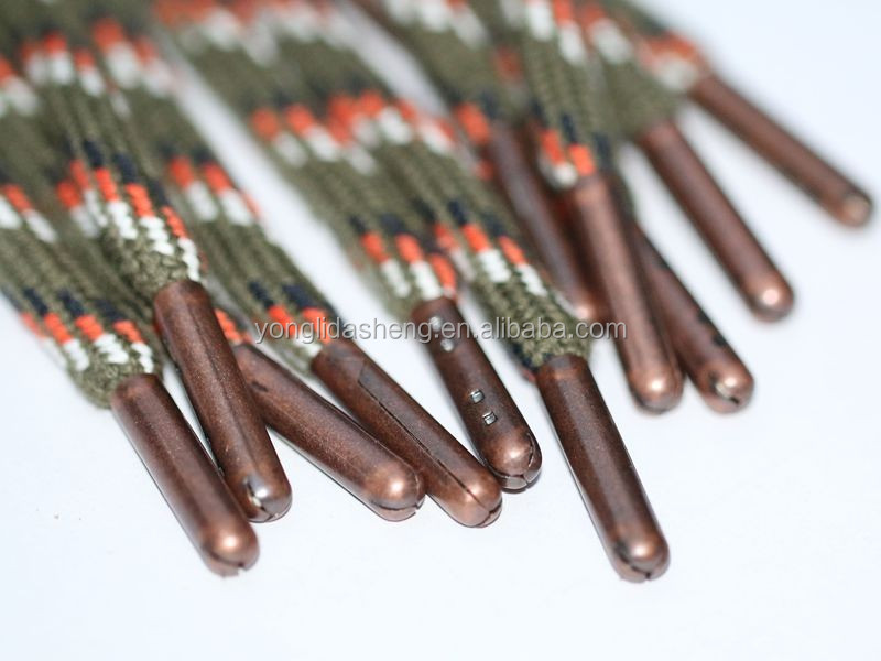 custom metal aglet / shoe and boot decorations bullet aglet for Nike shoes