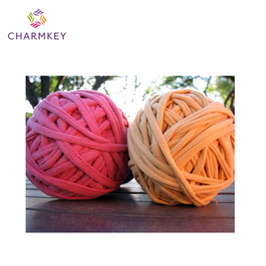 2015 hand knitting crochet t-shirt fabric yarn for baby