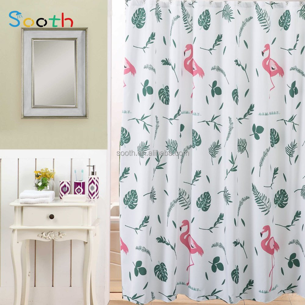 Bathroom waterproof polyester fabric shower curtain lazada malaysia - Shower Curtain Shower Curtain Suppliers And Manufacturers At Alibaba Com