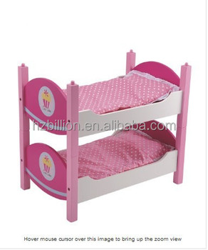 Hot Ing Pretend Play Wooden Doll Furniture Bunk Beds