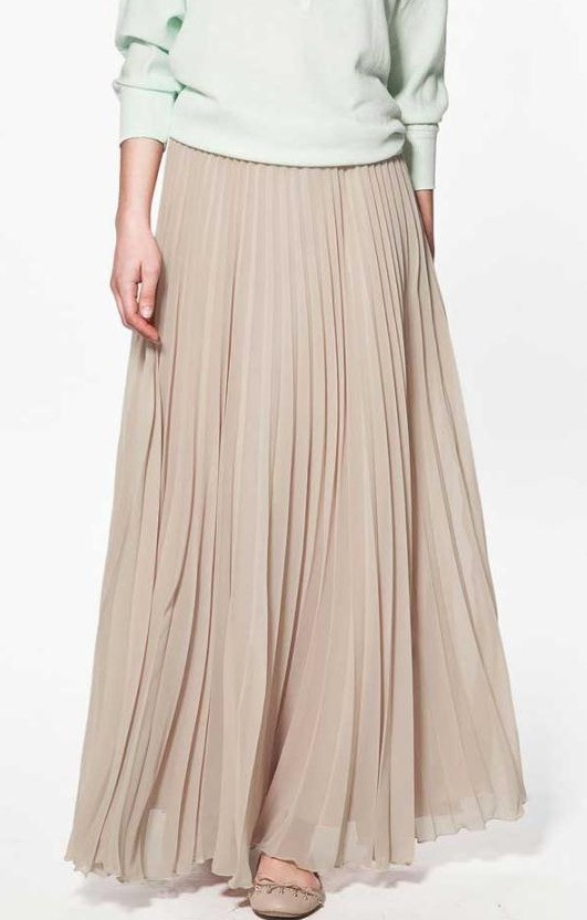 3cd813e0772c 2019 Wholesale Summer Women Skirt Elegant Pleated Long Skirt Slim ...